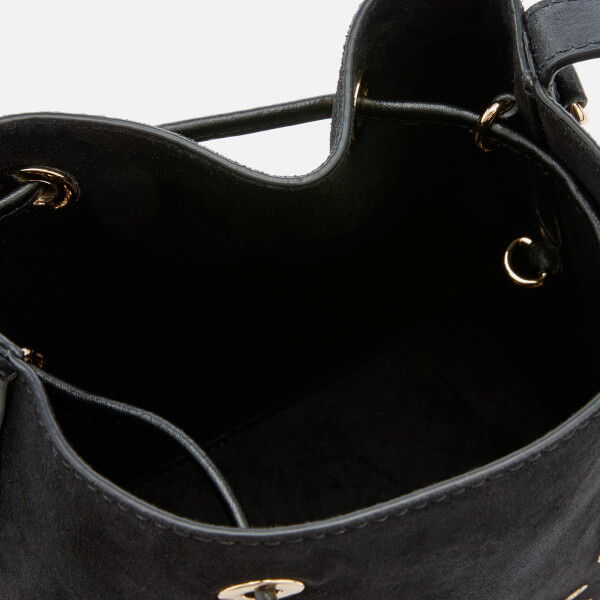 0093fa71b00bc MICHAEL MICHAEL KORS Women s Cary Small Bucket Bag with Paisely Grommit  Studs - Black  Image