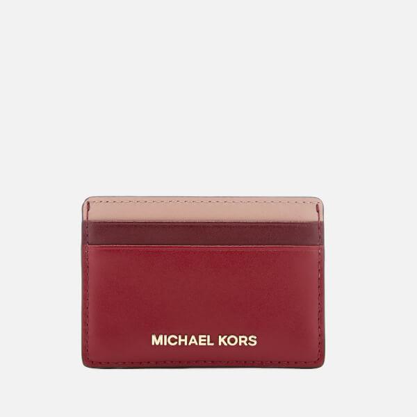 2ed6438517c2e MICHAEL MICHAEL KORS Women s Card Holder - Maroon Multi - Free UK ...