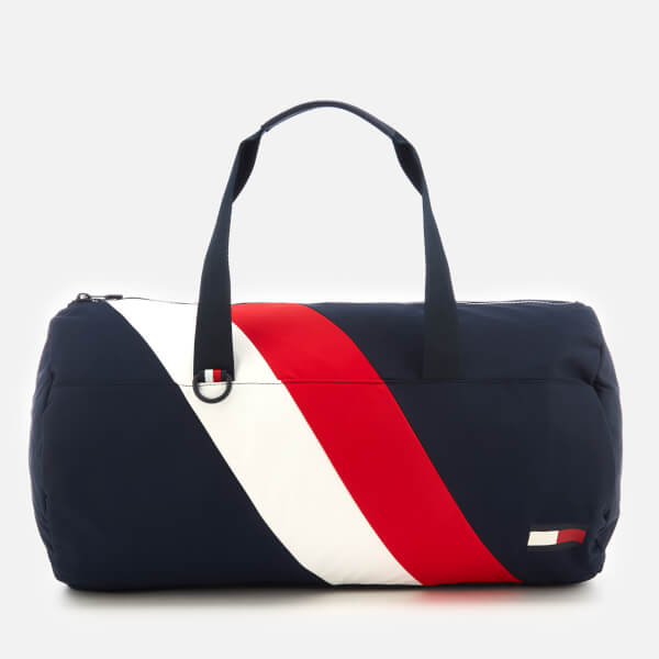 Tommy Hilfiger Men s Tommy Chevron Duffle Bag - Navy Red White  Image 1 22327a472eea3