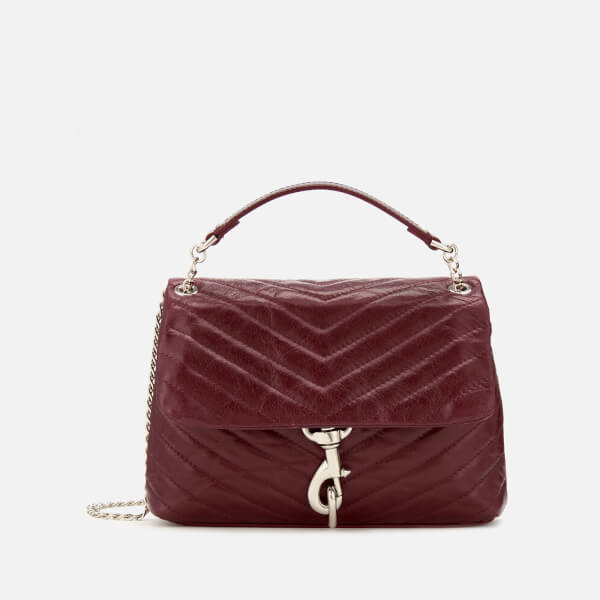Rebecca Minkoff Women's Edie Quilted Fiore Cross Body Bag - Bordeaux