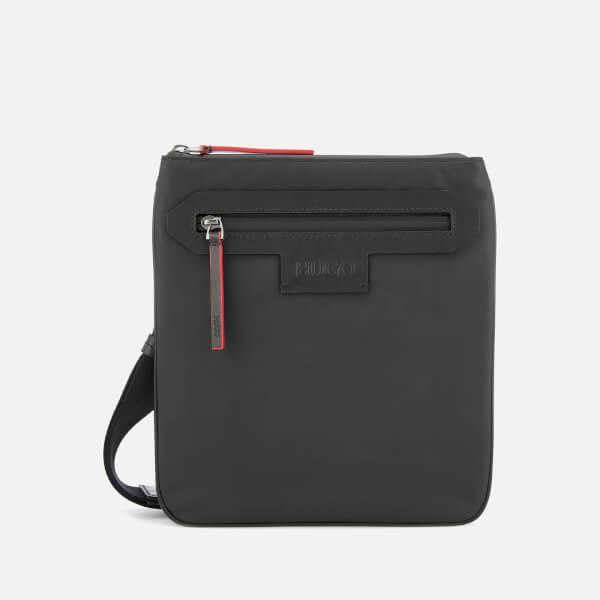 HUGO Men's Stone Single Zip Cross Body Bag - Black