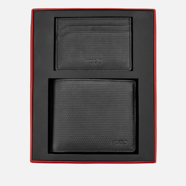 HUGO Men's Gift Box with Wallet and Card Holder - Black