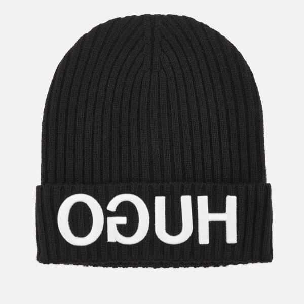 HUGO Men's Beanie Hat - Black
