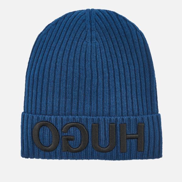 HUGO Men's Beanie Hat - Blue