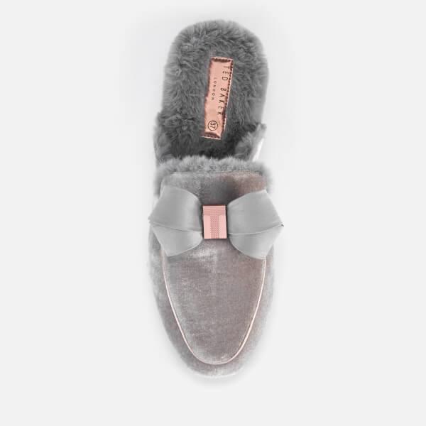 92e3fc0da Ted Baker Women s Bhaybe Velvet Mule Slippers - Light Grey  Image 3