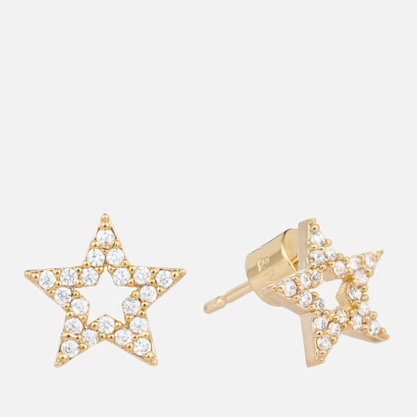 Astrid & Miyu Women's New Tricks Star Earrings - Gold