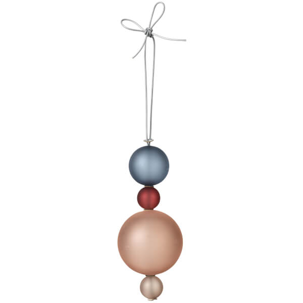 Broste Copenhagen Christmas Tree Decoration - Blue and Taupe