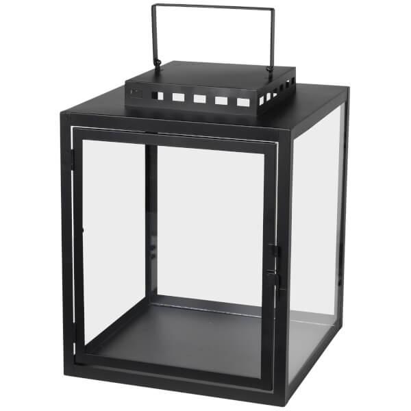 0faf4ccf186 Broste Copenhagen Noah Lantern - Glass Black - Medium Homeware ...