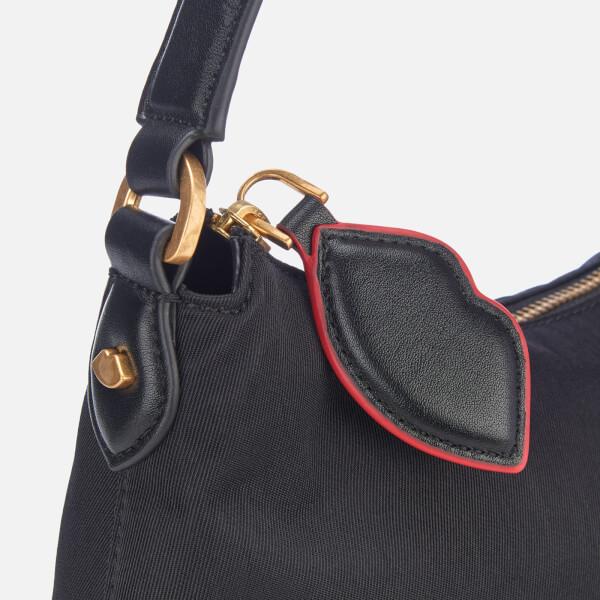 f46ae62a64d5af Lulu Guinness Women's Cupid's Bow Lucilla Medium Bag - Black/Scarlet: Image  4