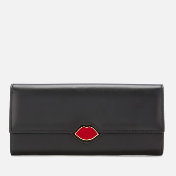 Lulu Guinness Women's Lips Cora Wallet - Black