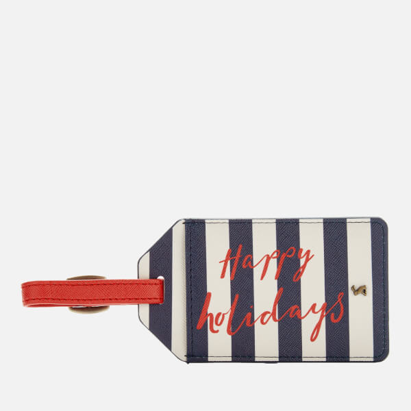 Joules Women's It's Mine Luggage Tag - Navy Stripe Text