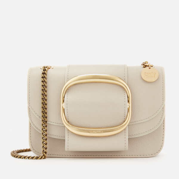 23deeccdccfc See By Chloé Women s Small Hopper Cross Body Bag - Cement Beige  Image 1