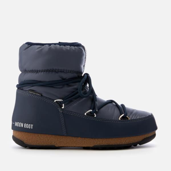 Moon Boot Women's Low Nylon Waterproof Boots - Blue Denim
