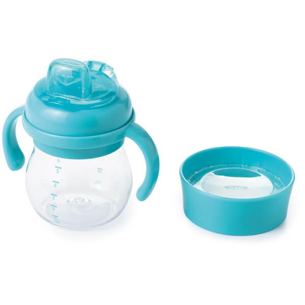 OXO Tot Transitions - Soft Spout Sippy Cup Set 175ml - Aqua