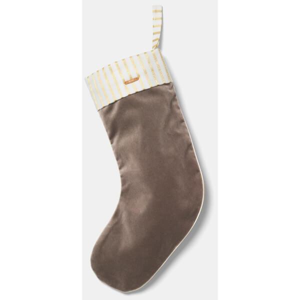Ferm Living Christmas Velvet Stocking - Brown