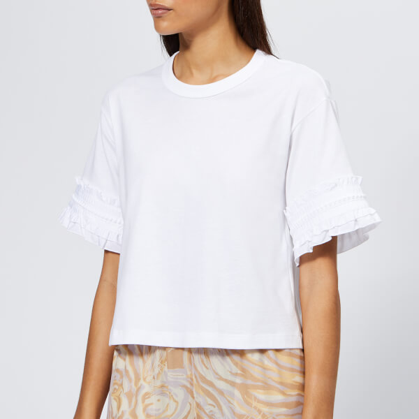 See By Chloé Women's Sleeve Detail T-Shirt - White Powder