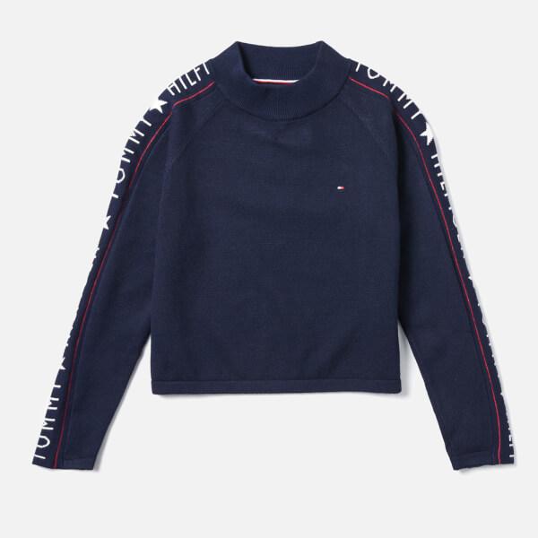 Tommy Hilfiger Girls' Iconic Logo Sweatshirt - Black Iris