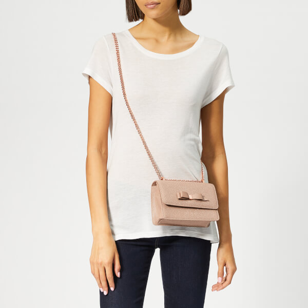 3daf888a1bf Ted Baker Women's Jayllaa Bow Detail Micro Cross Body Bag - Taupe: Image 3