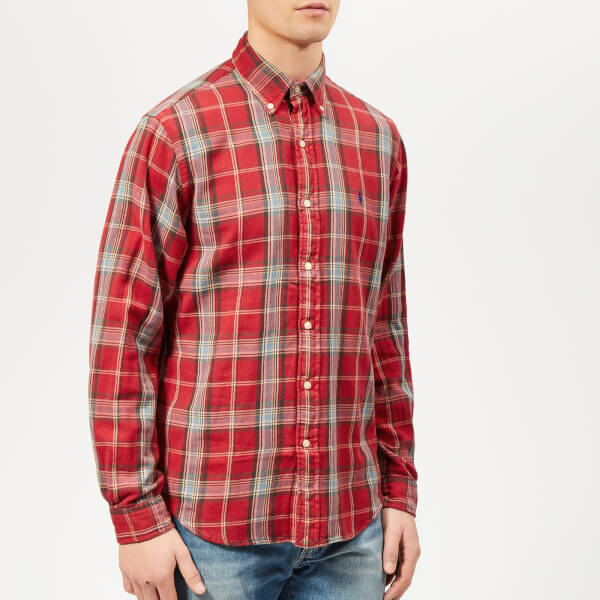 b53d6f16c ... wholesale polo ralph lauren mens double face check shirt red blue image  1 9eef1 1f30e