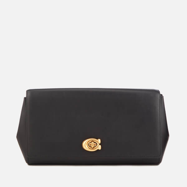 6b6426cf17f1 Coach Women s Alexa Smooth Leather Evening Clutch Bag - Black  Image 1