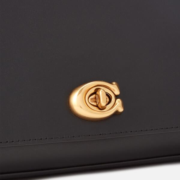 46f7475d348b Coach Women s Alexa Smooth Leather Evening Clutch Bag - Black  Image 4