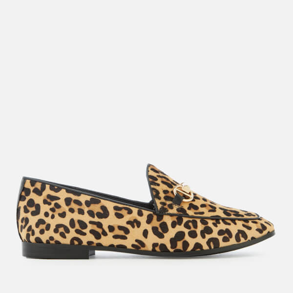 Dune Women's Guiltt Pony Loafers - Leopard
