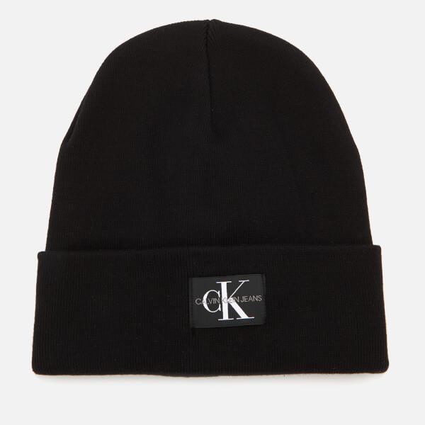 Calvin Klein Women s J Monogram Beanie Hat - Black  Image 1 d26a9955e18