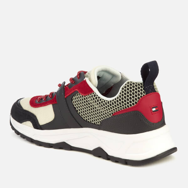 7c12d06f438947 Tommy Hilfiger Men s Material Mix Lightweight Runner Trainers -  Red White Blue  Image