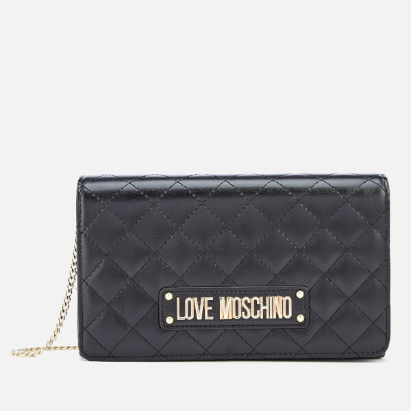 a71547d6e09 Love Moschino Women's Quilted Chain Shoulder Bag - Black: Image 1