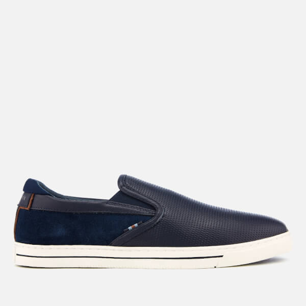 Ted Baker Men's Wlador Leather/Suede Slip-On Trainers - Dark Blue