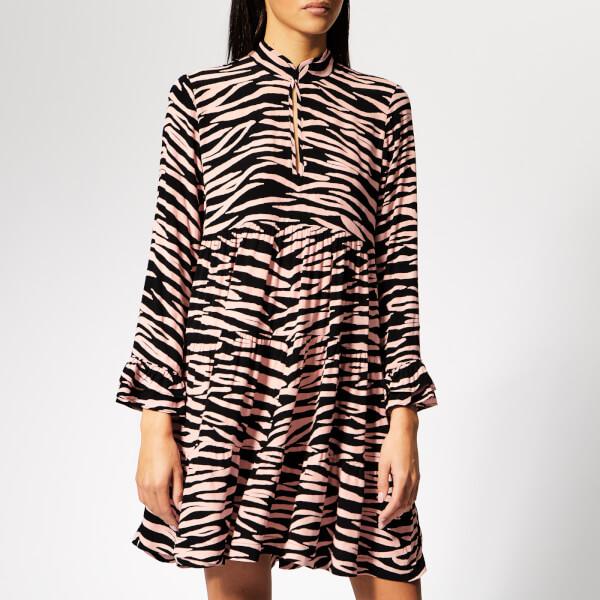 Ganni Women's Lindale Crepe Shirt Dress - Black