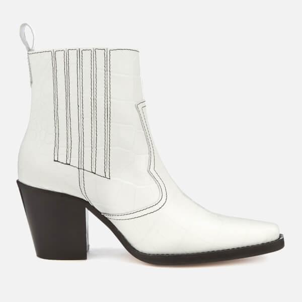 Ganni Women's Callie Boots - Bright White