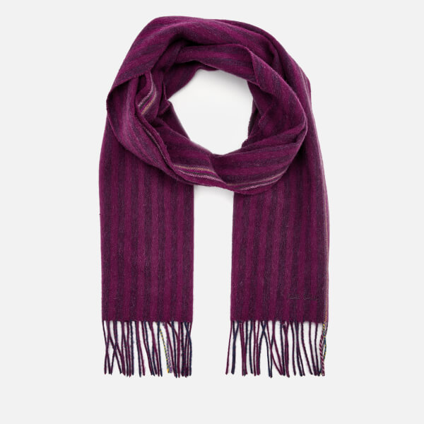 Paul Smith Men's Two Stripe Scarf - Pink