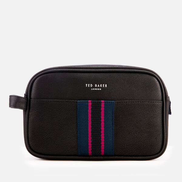 Ted Baker Men's Benny Webbing Wash Bag and Towel - Black