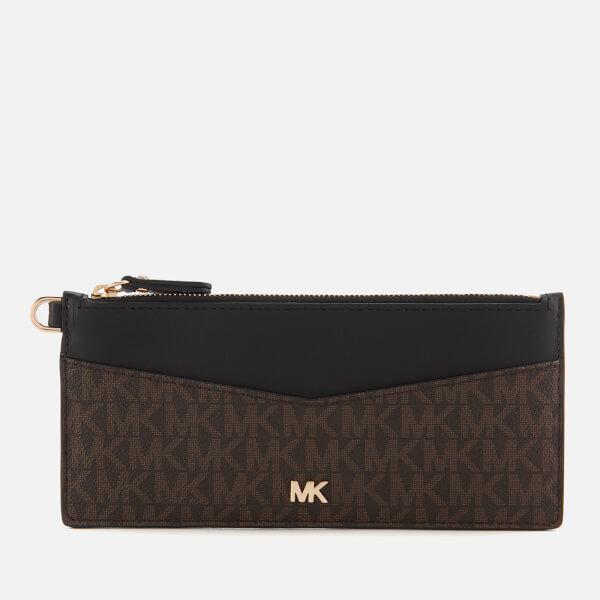 MICHAEL MICHAEL KORS Women's Money Pieces Slim Chain Card Case - Brown/Black