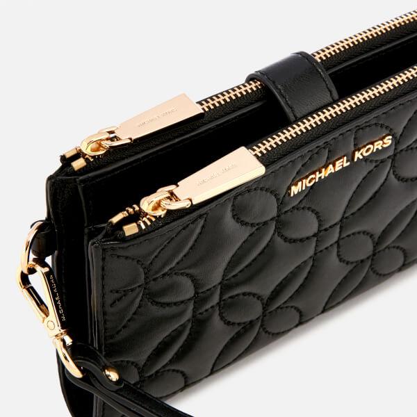 536ec0ca1afbfa MICHAEL MICHAEL KORS Women's Double Zip Wristlet - Black Fluro: Image 4