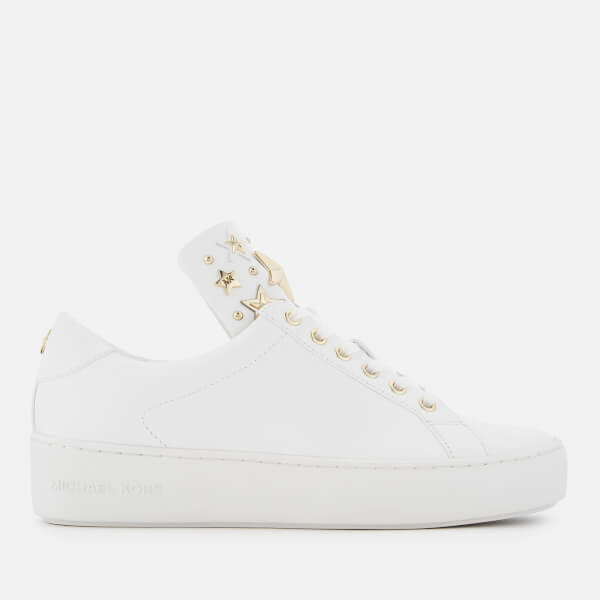 MICHAEL MICHAEL KORS Women's Mindy Leather Low Top Trainers - Optic White