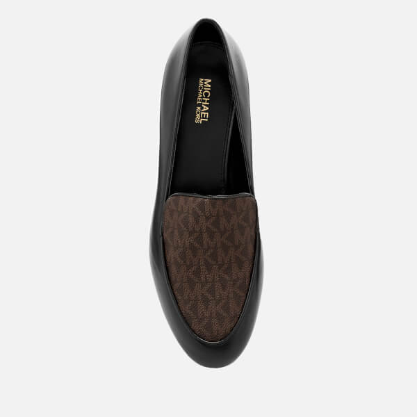 763808ce0e3 MICHAEL MICHAEL KORS Women s Valerie Slip-On Flats - Black Brown  Image 3