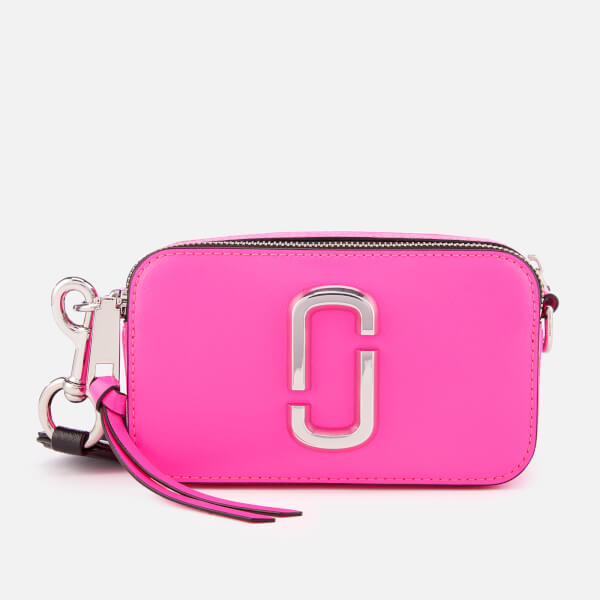 Marc Jacobs Women's Snapshot Fluoro Cross Body Bag - Bright Pink