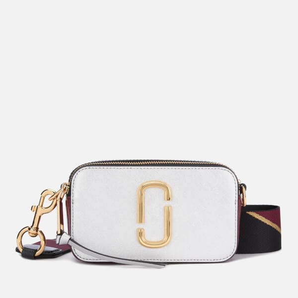 Marc Jacobs Women's Snapshot Cross Body Bag - Silver Multi