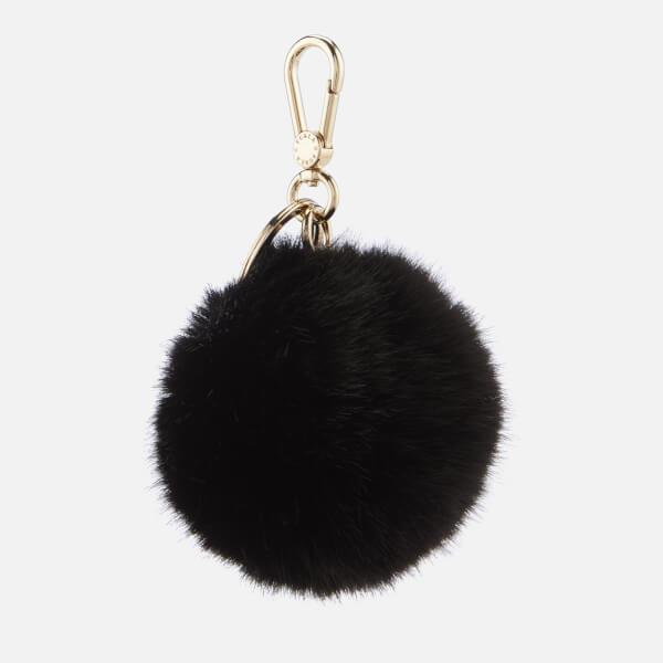 Furla Women's Bubble Pom Pom Keyring - Black