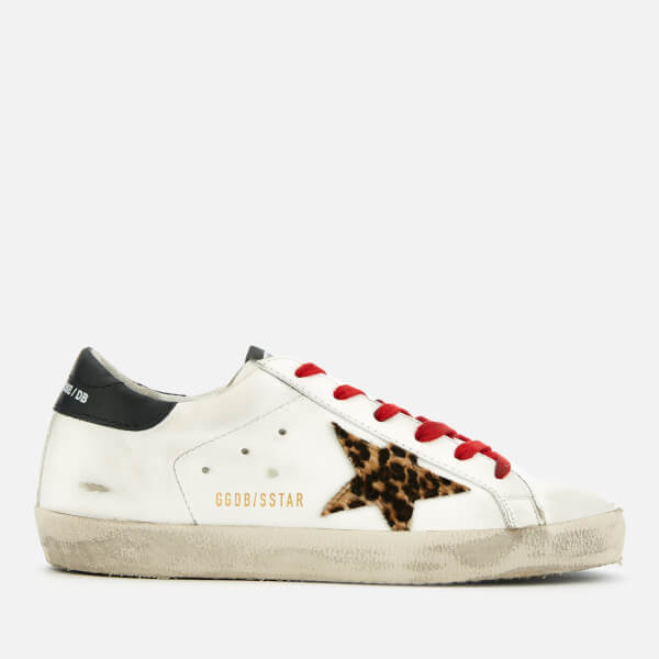 Golden Goose Deluxe Brand Women's Superstar Leather Trainers - White/Black/Animalier