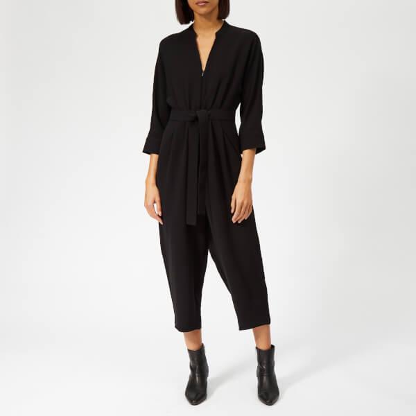 Whistles Women's Arabella Zip Tie Front Jumpsuit - Black