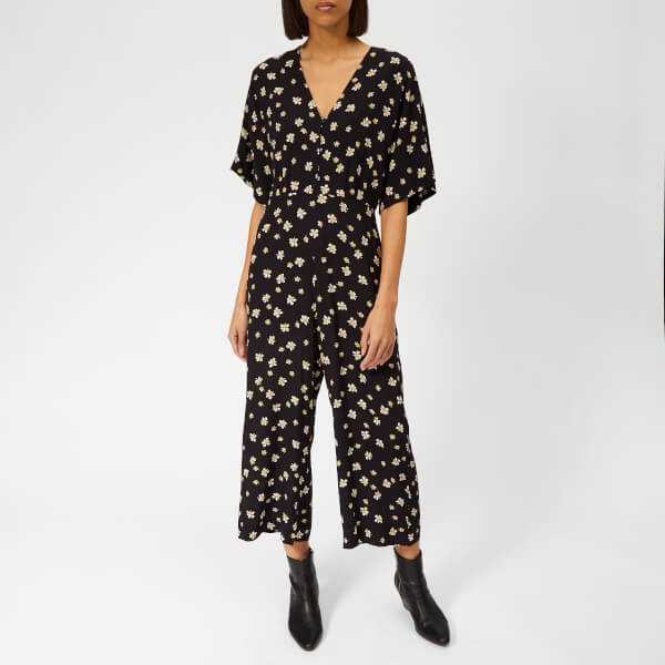 Whistles Women's Edelweiss Print Button Jumpsuit - Black/Multi