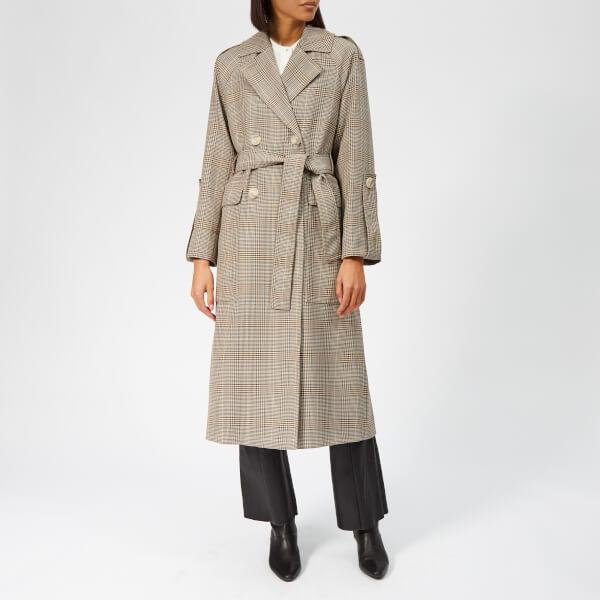 Whistles Women's Check Trench Coat - Multicolour