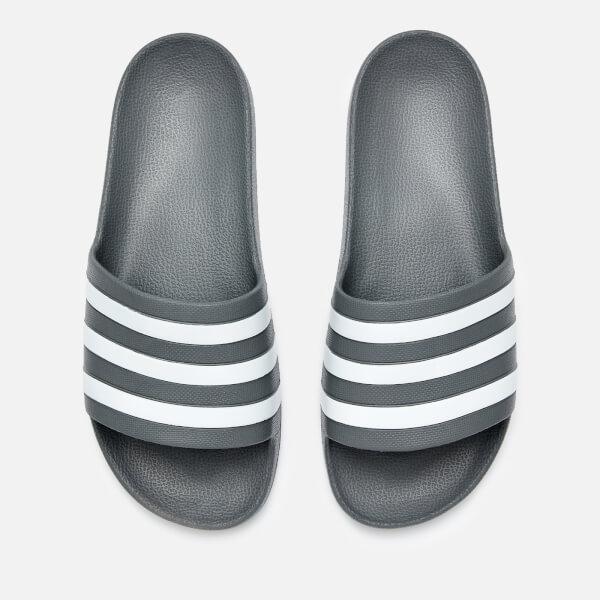 0037aa1fc7f0 adidas Men s Adilette Aqua Slide Sandals - Grey Three Sports ...