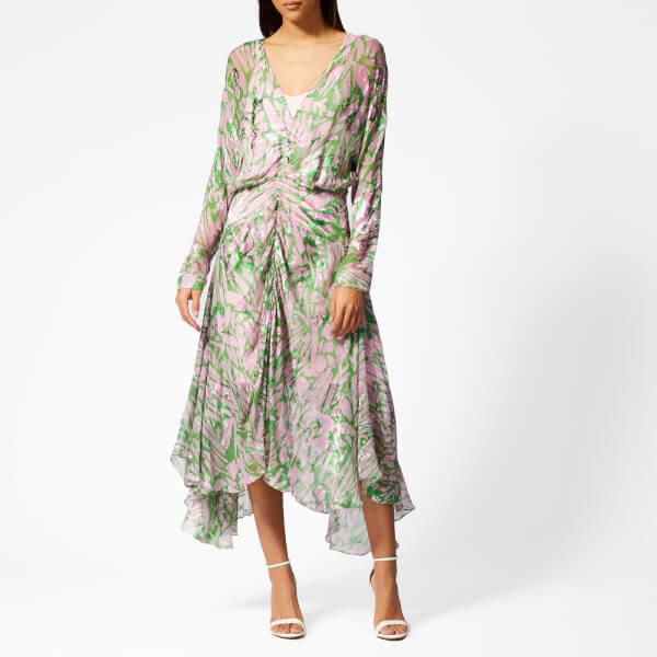Preen By Thornton Bregazzi Women's Marlie Dress with Pink Slip - Pink/Green Pavement