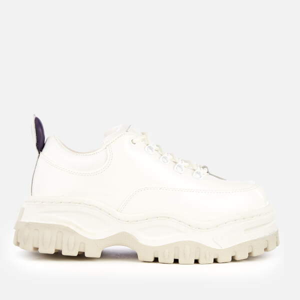 Eytys Women's Angel Patent Leather Chunky Trainers - White