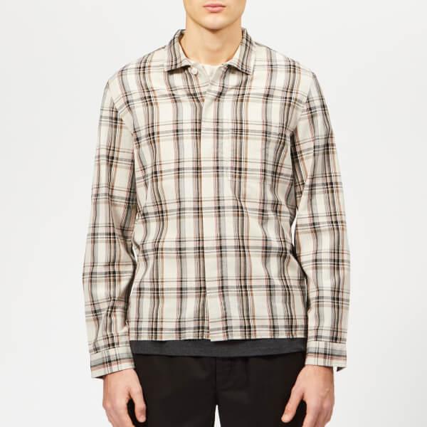 Folk Men's Patch Shirt - Oatmeal Multi