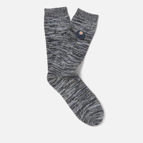 Folk Men's Melange Socks - Blue